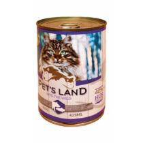Pet's Land Cat Konzerv Sertés-Hal Körtével 415g
