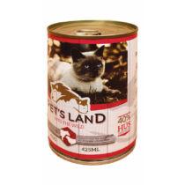 Pet's Land Cat Konzerv Marhamáj-Bárányhús Almával 415g