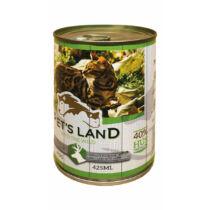 Pet's Land Cat Konzerv Vadhús Répával 415g