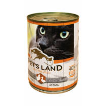 Pet's Land Cat Konzerv Baromfihússal 415g