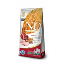 N&D Low Grain Csirke és Gránátalma Senior Medium/Maxi 12 kg