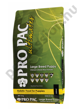 PRO PAC Ultimates – Puppy Large Breed Csirke & Barna Rizs 12 kg