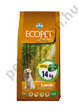 Ecopet Natural Adult Lamb Medium 12+2 kg