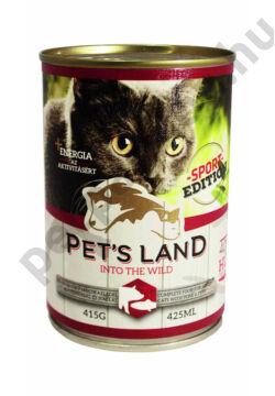Pet's Land Cat Konzerv Sertés-Hal Sport 415g