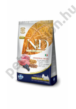 N&D Low Grain Bárány és Áfonya Adult Mini 7kg