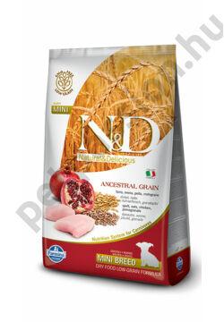 N&D Low Grain Csirke és Gránátalma Puppy Mini 7 kg