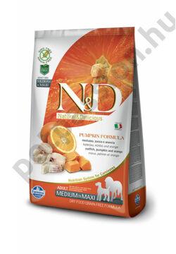 N&D Dog Grain Free Pumpkin Tőkehal és Narancs Adult Mini
