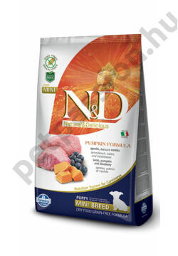 N&D Dog Grain Free Pumpkin Bárány és Áfonya Puppy Mini 7 kg