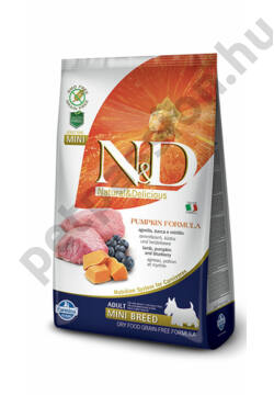 N&D Dog Grain Free Pumpkin Bárány és Áfonya Adult Mini 7 kg