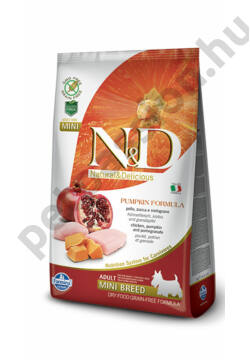 N&D Dog Grain Free Pumpkin Csirke és Gránátalma Adult Mini