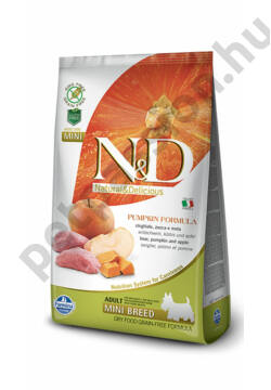 N&D Dog Grain Free Pumpkin Vaddisznó és Alma Adult Mini
