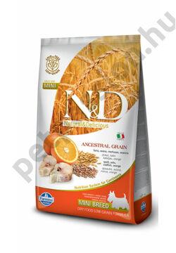 N&D Low Grain Tőkehal és Narancs Adult Mini 7kg