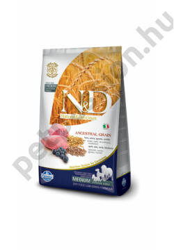 N and D Low Grain Bárány és Áfonya Adult Medium 12kg