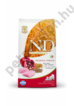 N&D Low Grain Csirke és Gránátalma Puppy Medium12 kg