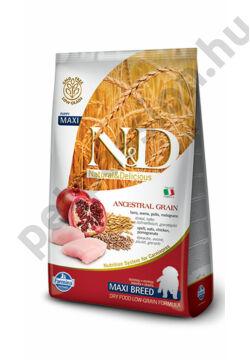 N&D Low Grain Csirke és Gránátalma Puppy Maxi 12 kg