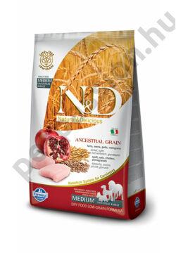 N and D Low Grain Csirke és Gránátalma Adult Medium 12 kg