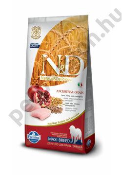 N and D Low Grain Csirke és Gránátalma Adult Maxi 12 kg
