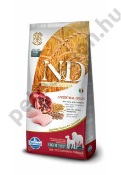 N and D Low Grain Csirke és Gránátalma Light Medium/Maxi 12 kg