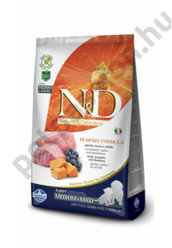 N&D Dog Grain Free Pumpkin Bárány és Áfonya Puppy Medium/Maxi