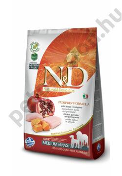 N&D Dog Grain Free Pumpkin Csirke és Gránátalma Adult Medium/Maxi