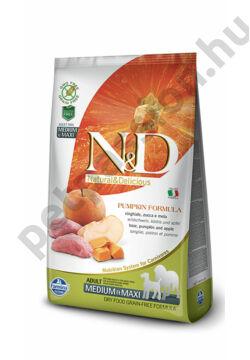 N&D Dog Grain Free Pumpkin Vaddisznó és Alma Adult Medium/Maxi