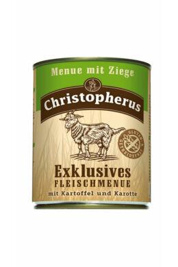 Christopherus Dog konzerv Adult Exclusive húsmenü kecskevel 800g