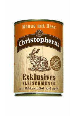 Christopherus Dog konzerv Adult Exclusive húsmenü nyúllal 400g