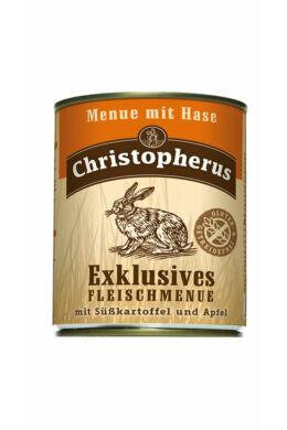 Christopherus Dog konzerv Adult Exclusive húsmenü nyúllal 800g