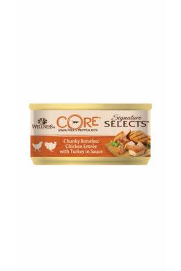 Wellness Core Cat Csirke darabok pulykával 79g