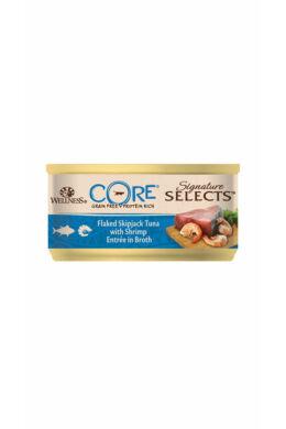 Wellness Core Cat Tonhal darabok garnélával 79g