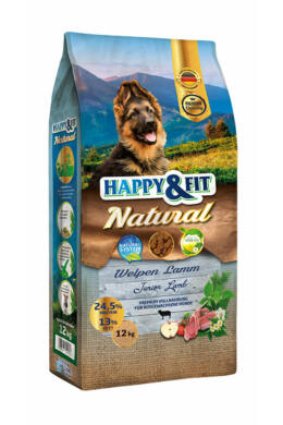 Happy&Fit Natural Kölyök Lamb 12kg