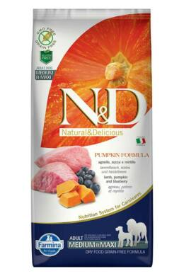N and D Dog Grain Free Pumpkin Bárány és Áfonya Adult Medium/Maxi