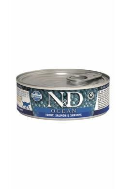 N&D Cat Ocean Pisztráng garnélával 80g