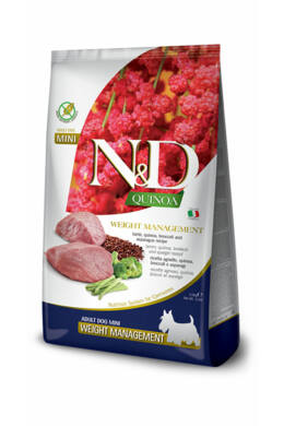 N and D Dog Quinoa Weight Management Adult Mini 800g
