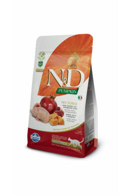 N and D Cat Pumpkin Neutered Quail 300g