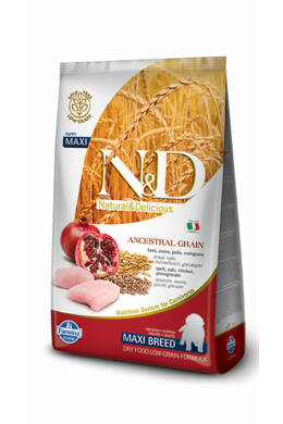 N and D Low Grain Csirke és Gránátalma Puppy Maxi 12 kg