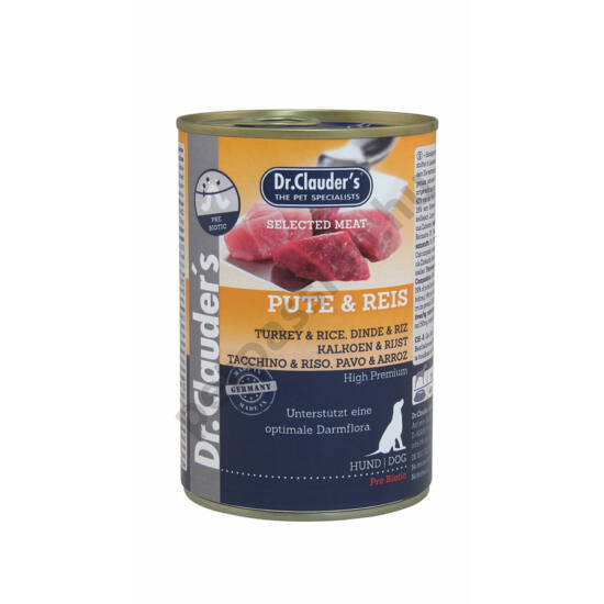 Dr.Clauder's Selected Meat Pulyka-Rizs 400 g