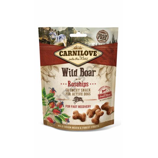 Carnilove Crunchy Snack vaddisznóhús csipkebogyóval 200g