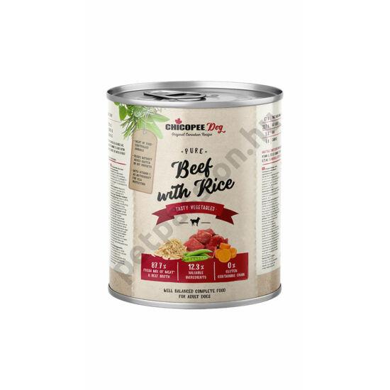 Chicopee Dog konzerv marha és rizs