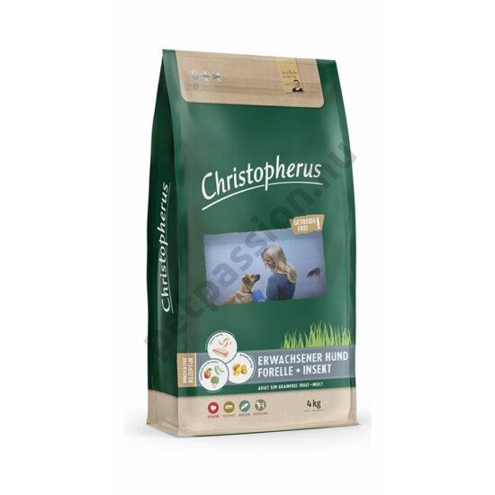Christopherus Dog Adult Grainfree Pisztráng és Rovar Small&medium 4kg
