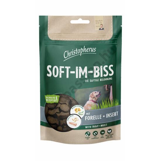 Christopherus Dog Jutalomfalat Grain Free Soft-Im-Biss Pisztráng és Rovar 125g