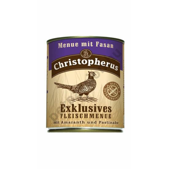 Christopherus Dog konzerv Adult Exclusive húsmenü fácánnal 800g