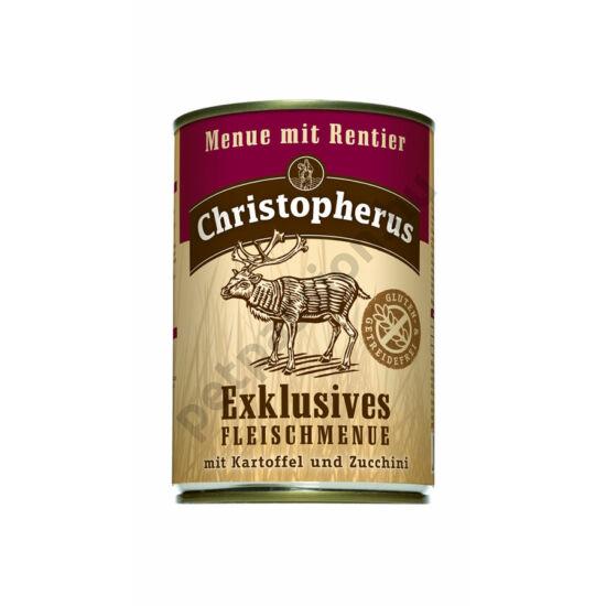 Christopherus Dog konzerv Adult Exclusive húsmenü rénszarvassal 400g