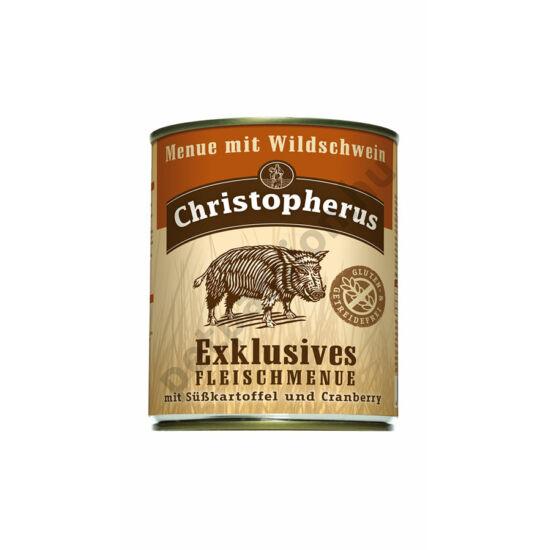 Christopherus Dog konzerv Adult Exclusive húsmenü vaddisznóval 800g
