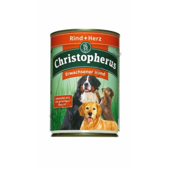 Christopherus Dog konzerv Adult marha és szív 400g