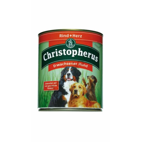 Christopherus Dog konzerv Adult marha és szív 800g