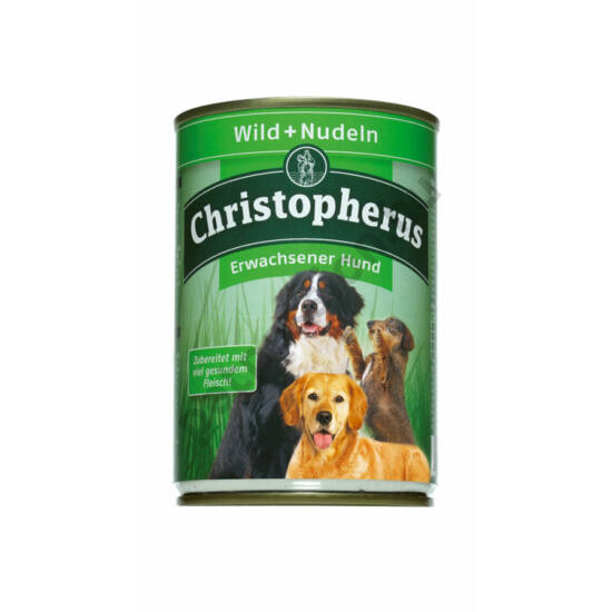 Christopherus Dog konzerv Adult Vad és tészta 400g
