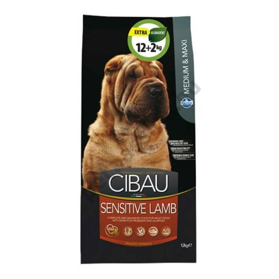 Cibau Sensitive Lamb Medium and Maxi 12 kg