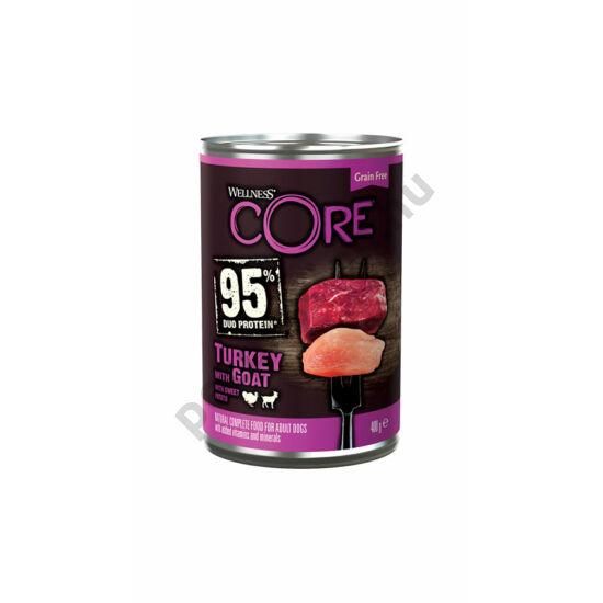 Wellness Core Dog Pulyka és Kecske 400g