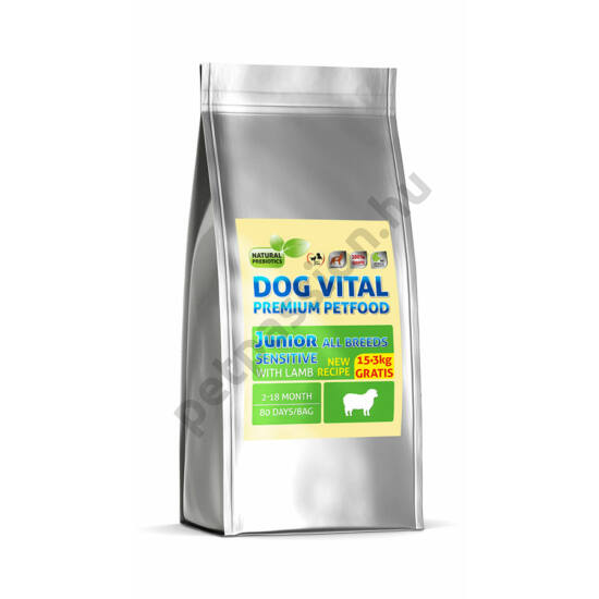 Dog Vital Junior Bárány 15+3 kg